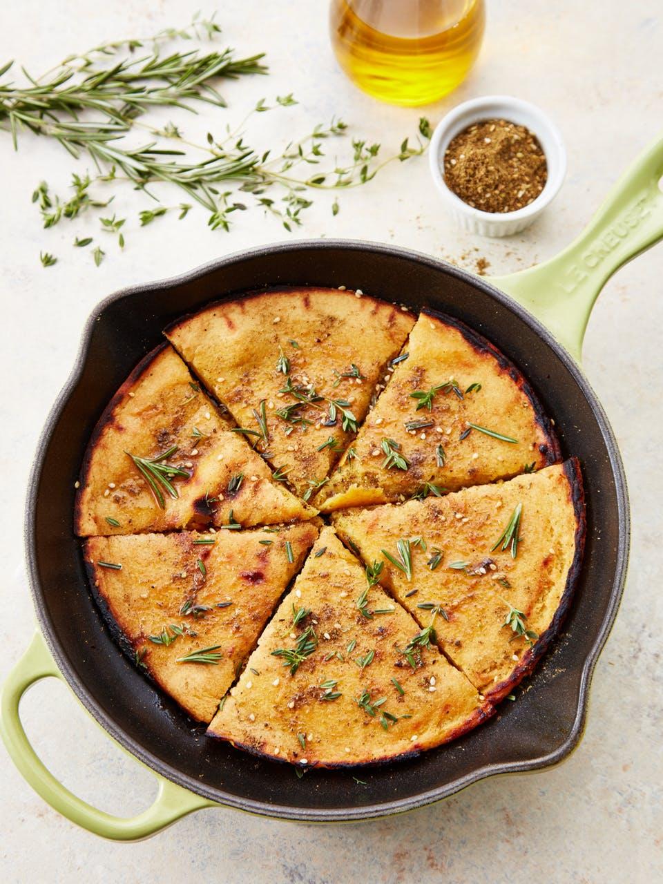 Low Carb Rezepte mit Kichererbsenmehl: Low Carb Brot selber machen