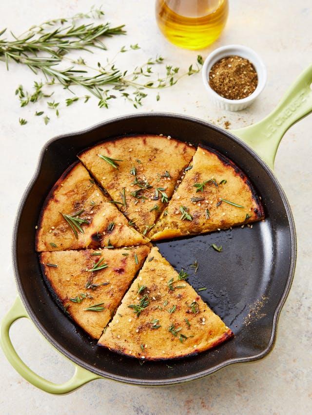 Low Carb Rezept: Glutenfreies Brot aus Kichererbsenmehl