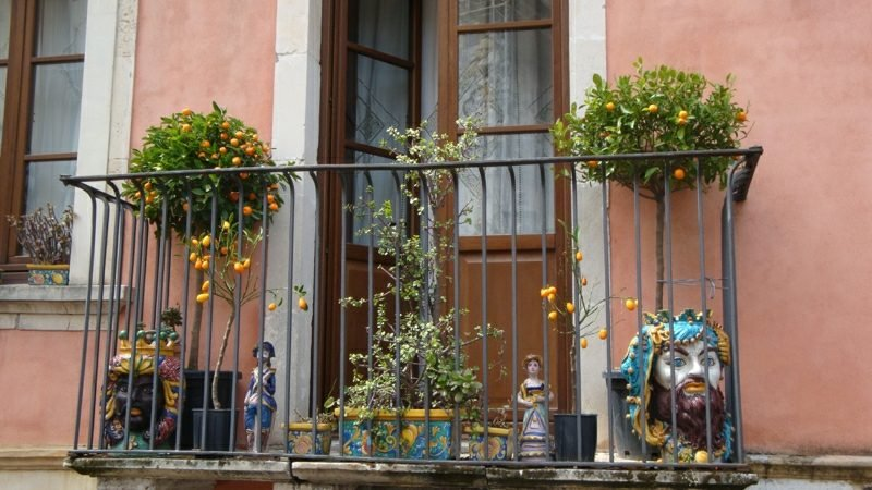 Balkongestaltung mit Pflanzen kleiner Balkon