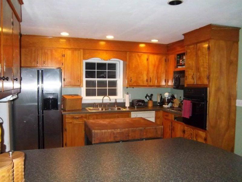 Küchenfronten lackieren: Vorher