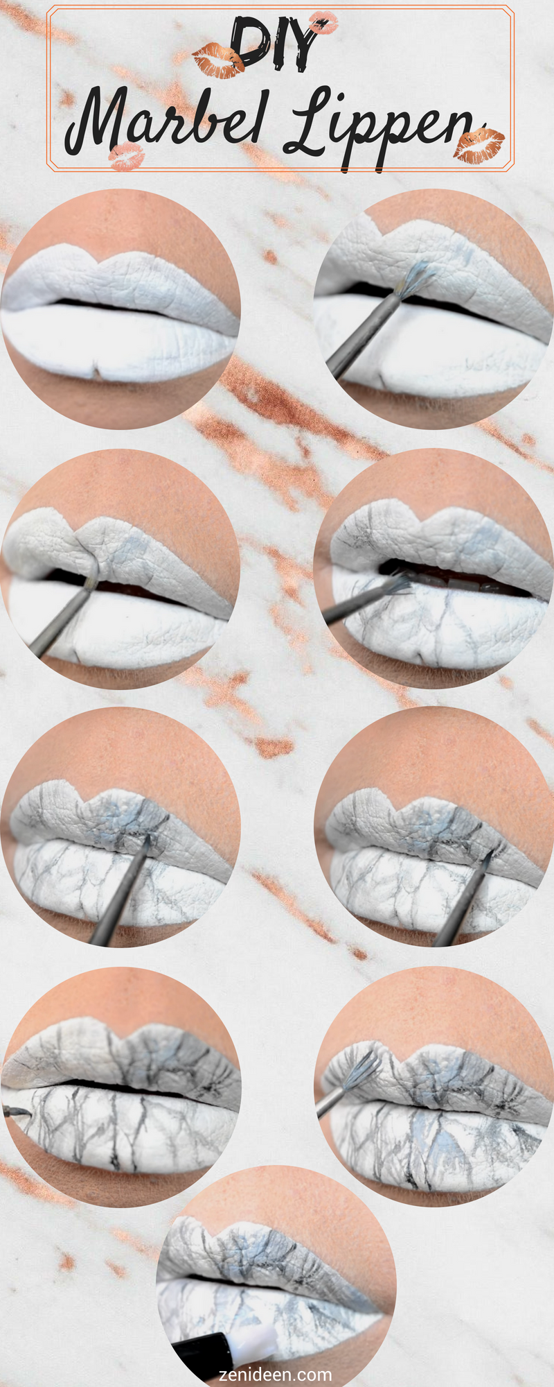 DIY Marmor Lippen