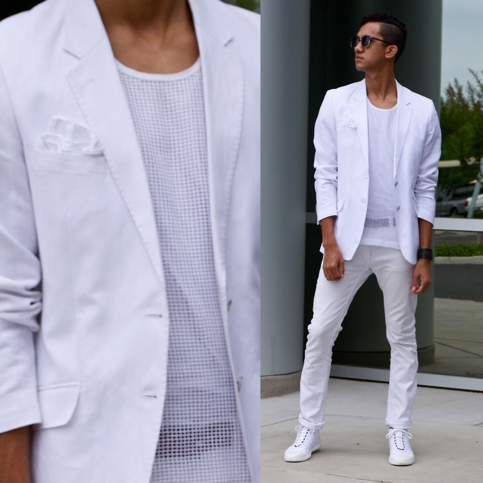 Männermode in Weiß
