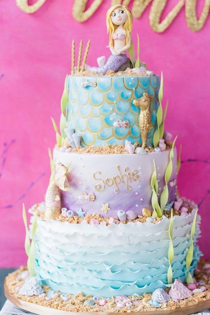Meerjungfrau Geburtstagstorte Ideen