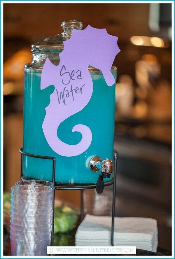 Meerjungfrau Geburtstagsparty Salzwasser