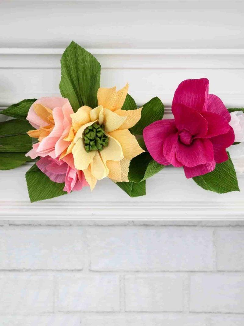 Ideen für Papierblumen basteln