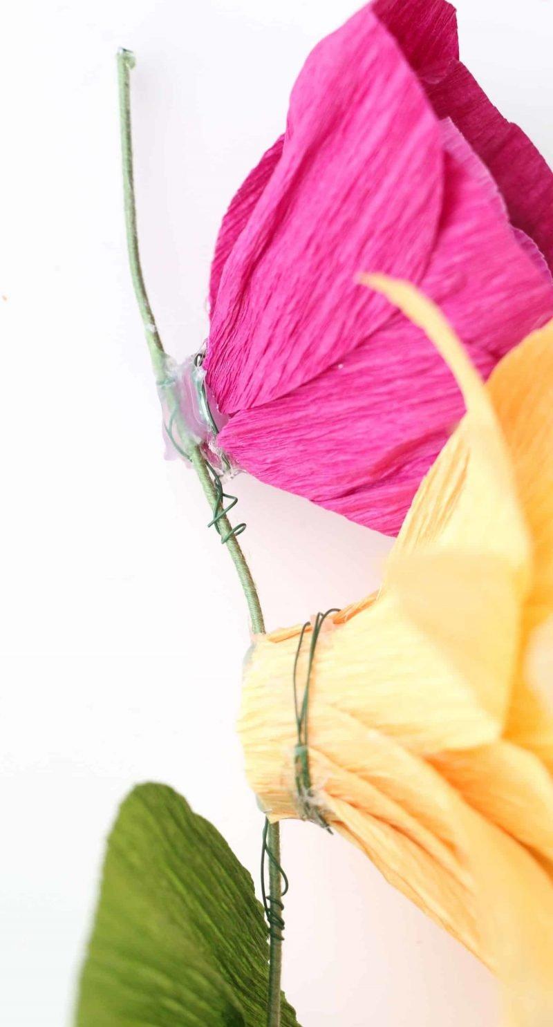 DIY Anleitung für Blumen aus Krepppapier