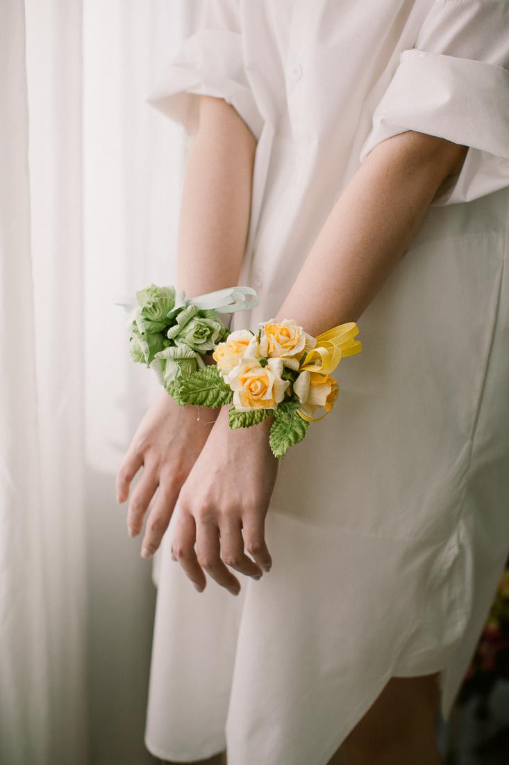 DIY Papierblumen basteln: Blumenband