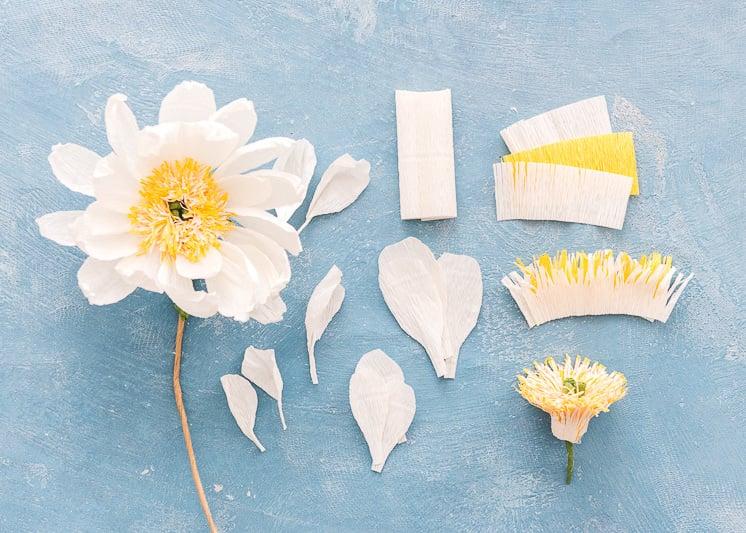 Schöne Bastelideen für die Hochzeit: kinderleichte Anleitung für Papierblumen basteln
