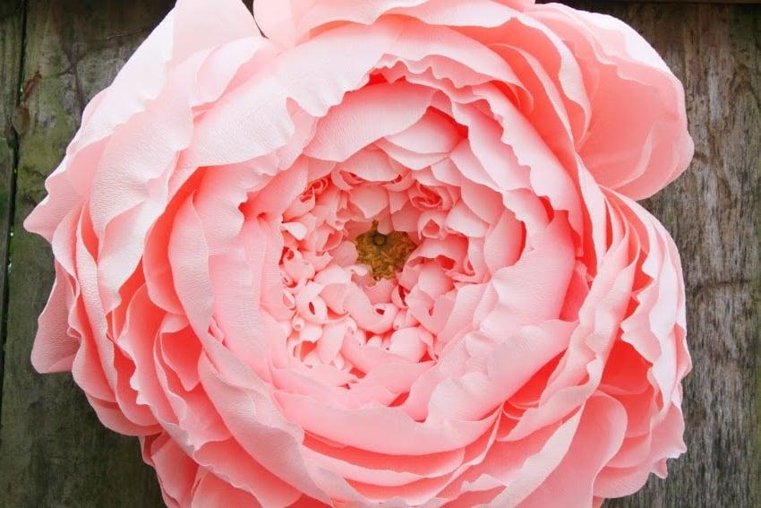 Große Blumen aus Krepppapier basteln
