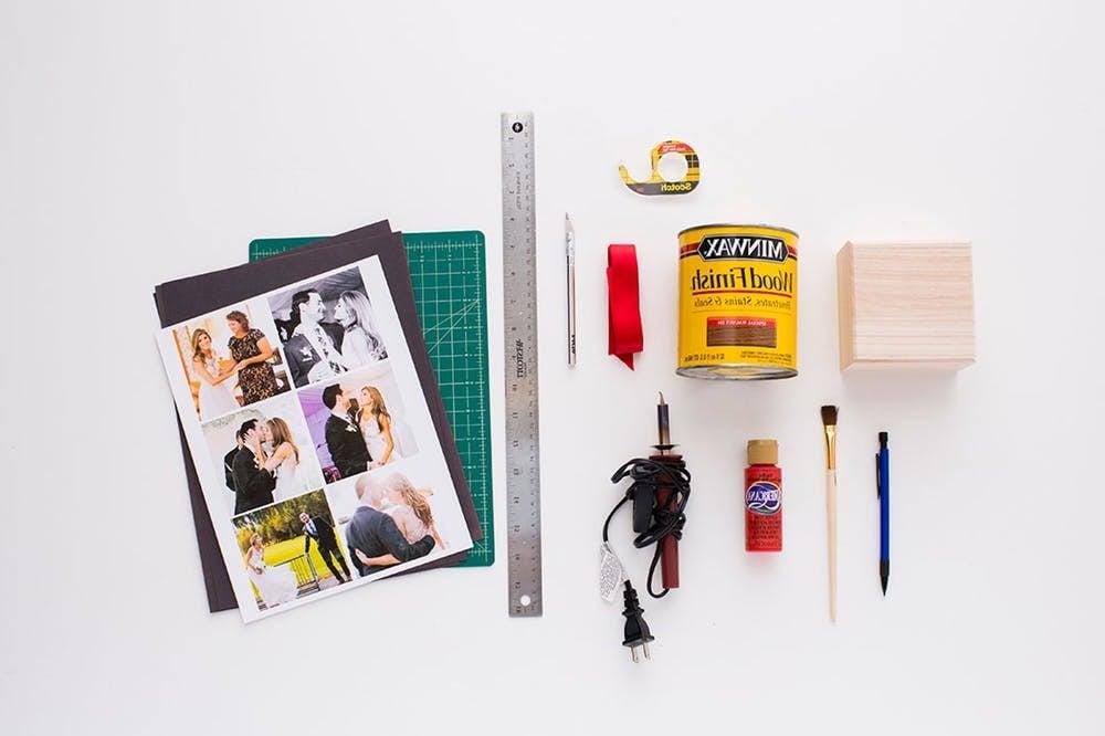 Die notwendigen Materialien für eine Schachtel basteln