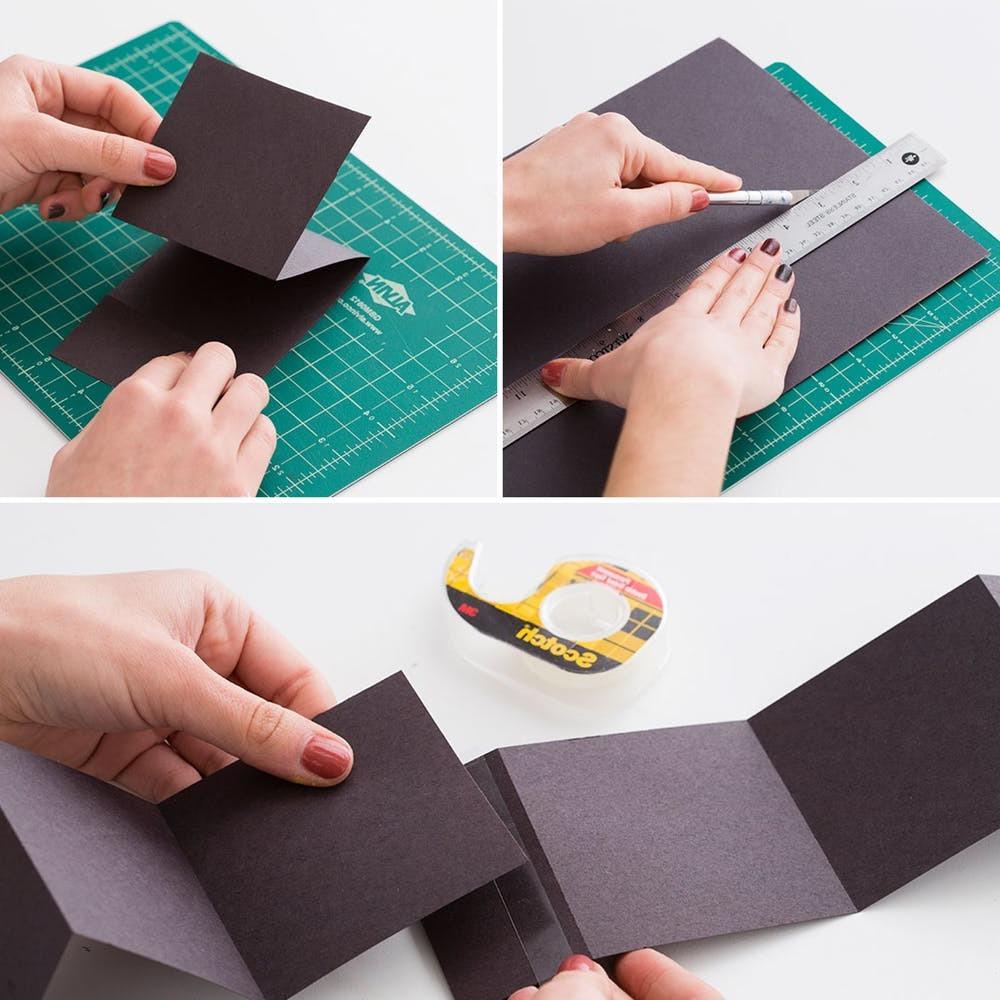 DIY Foto Schachtel basteln: Bastelvorlagen zum Ausdrucken