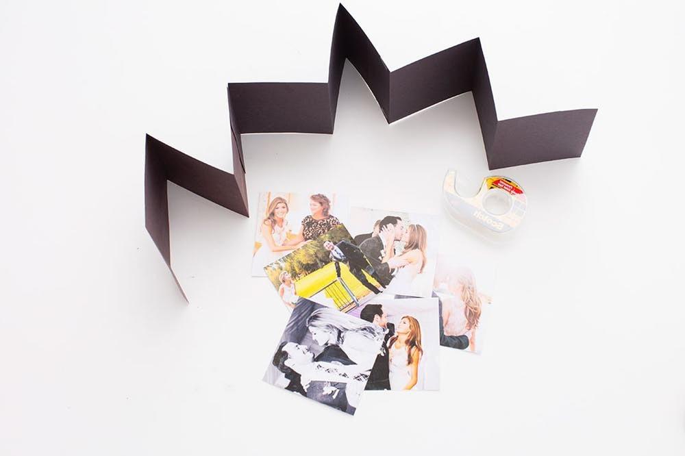 Fotoalbum im Geschenkbox basteln