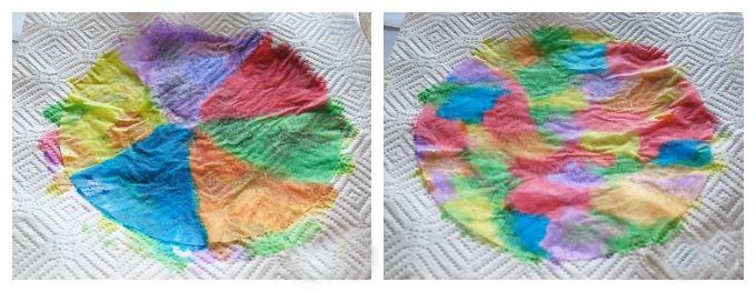 Basteln mit Kindergartenkindern: Kaffeefilter Schmetterlinge basteln