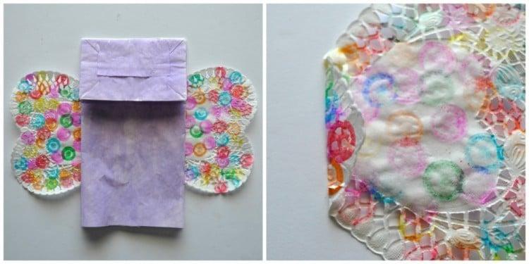 Schmetterlinge Basteln aus Papier Tüten: Anleitung