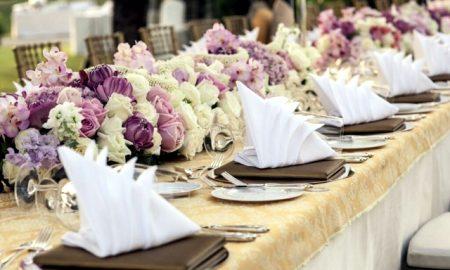 Servietten falten für Hochzeitsdeko