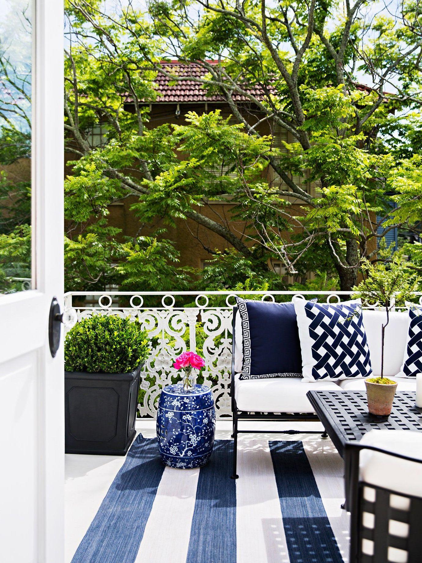 Terrasse gestalten: Muster und Farben