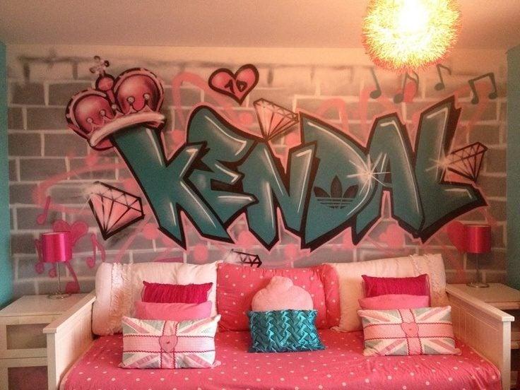 Wand Streichen Ideen für Kinderzimmer