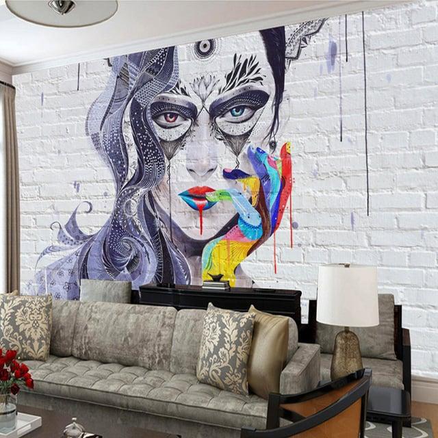Mit Graffiti das Wohnzimmer Streichen