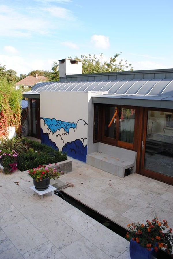 Wand Streichen Ideen für Außenbereich