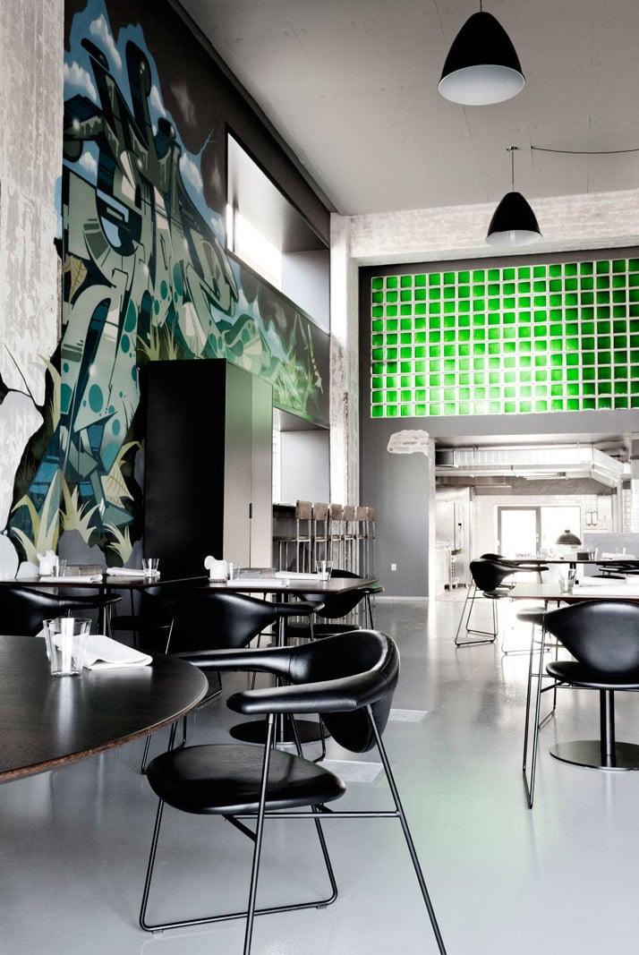 Wand Streichen Ideen für ein Restaurant