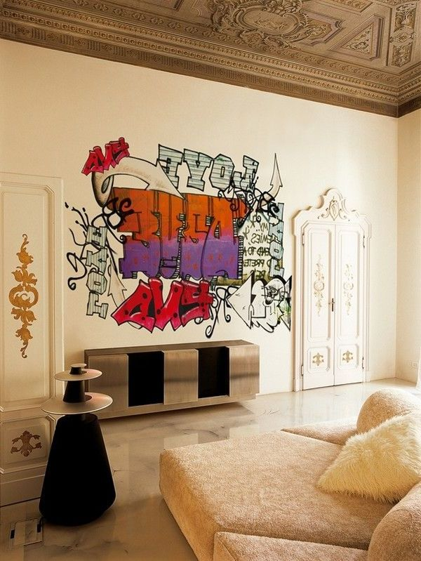 Wand Streichen Ideen für das Wohnzimmer