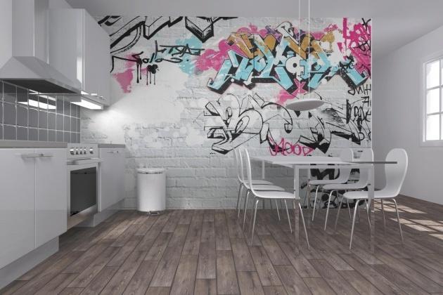 Graffiti Wandgestaltung Küche