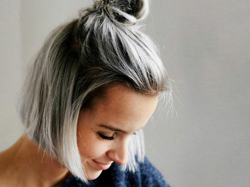 Haare weiβ färben dunkler Haaransatz