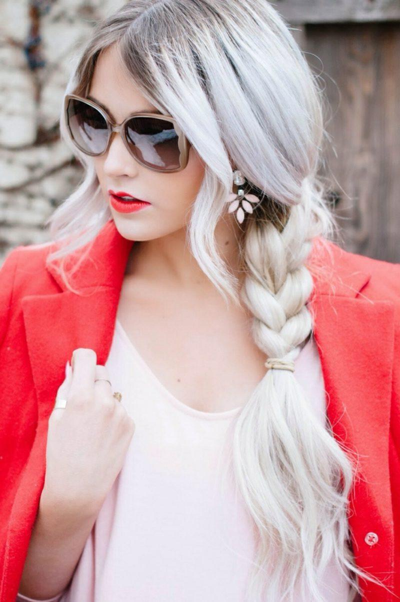 Haare weiβ färben extravaganter look