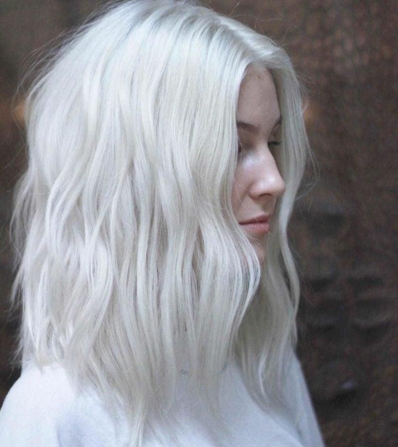 Haare weiβ färben stilvoll trendy