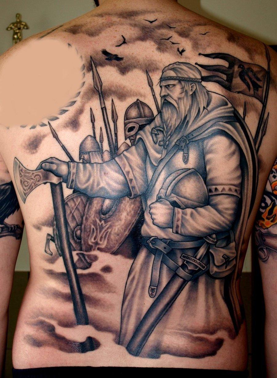 Wikinger Tattoo Rücken