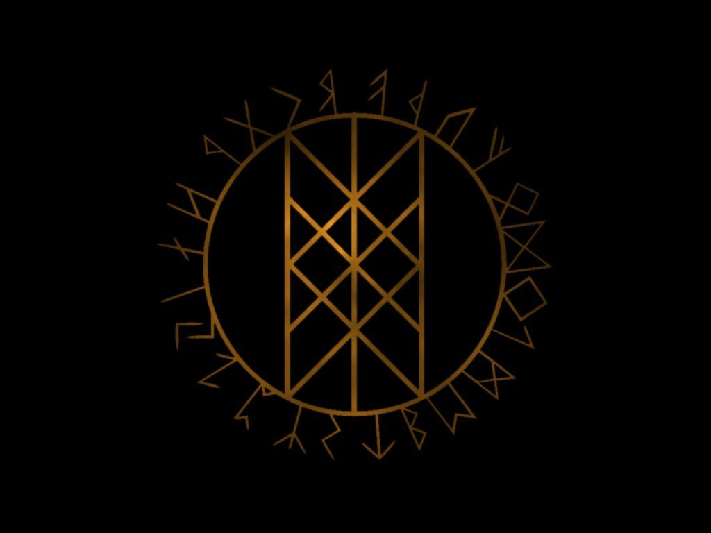 Wyrd Ryne oder Web of Wyrd Symbol