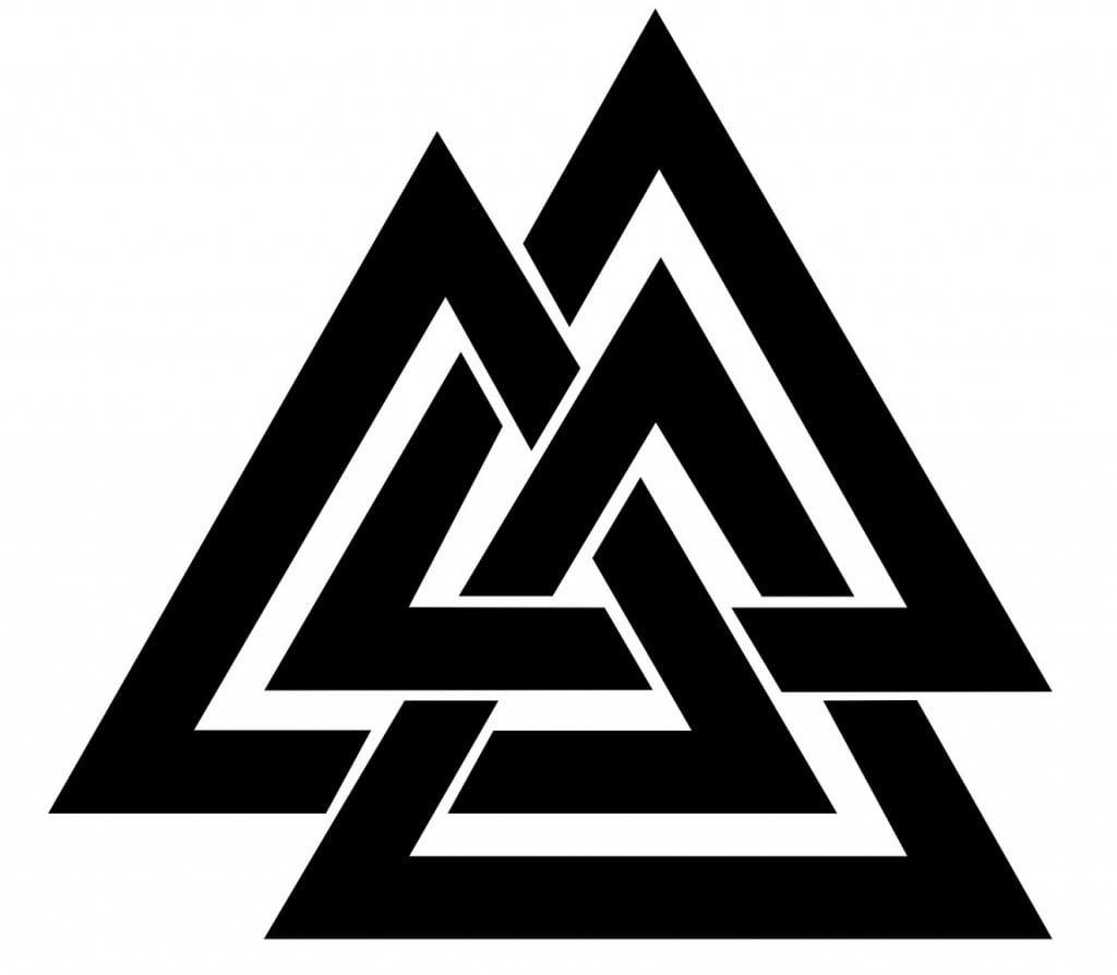 Valknut Symbol als Wikinger Tattoo