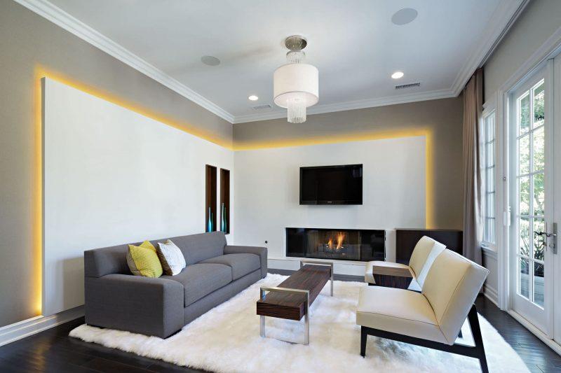 Leuchtelemente im Wohnzimmer -für wenig Geld