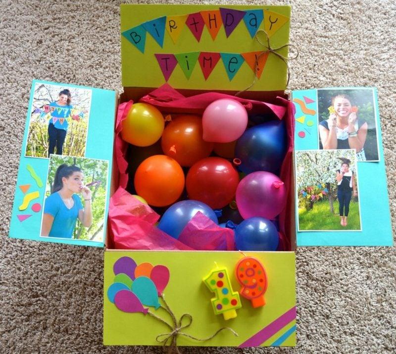 Geschenkideen beste Freundin selber machen Überraschungsbox