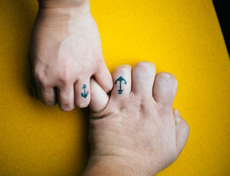 Ehering Tattoo Motive Anker