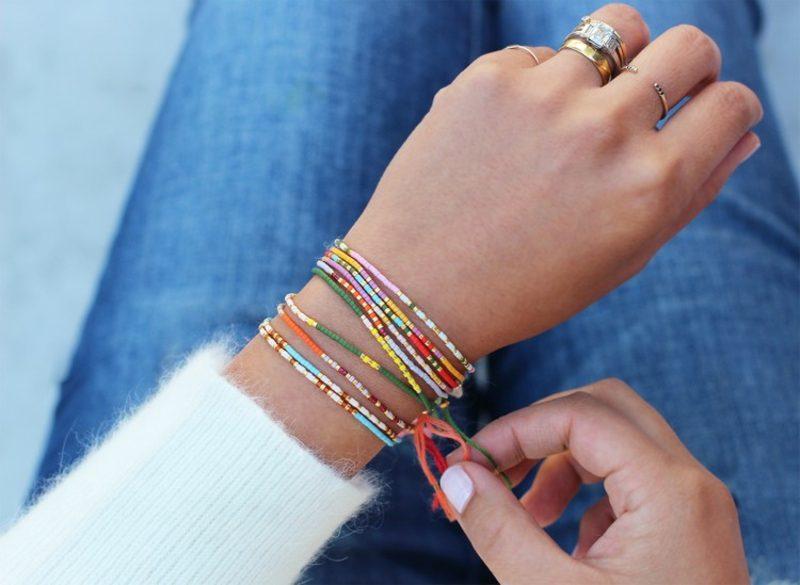 Geschenkideen beste Freundin selber machen Armbänder basteln