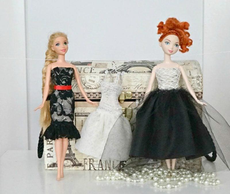 Pappmache selber machen tolle Puppenkleider DIY