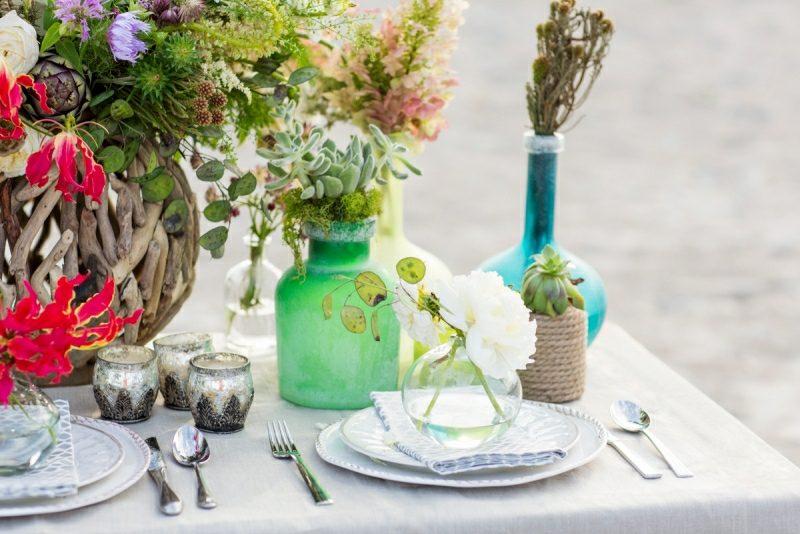 Bastelideen für Erwachsene Sommer Blumen arrangieren