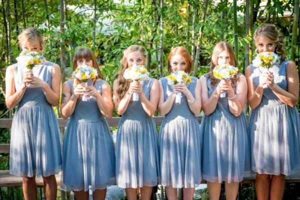 Kleider für Hochzeitsgäste und Brautjungffern originelle Ideen