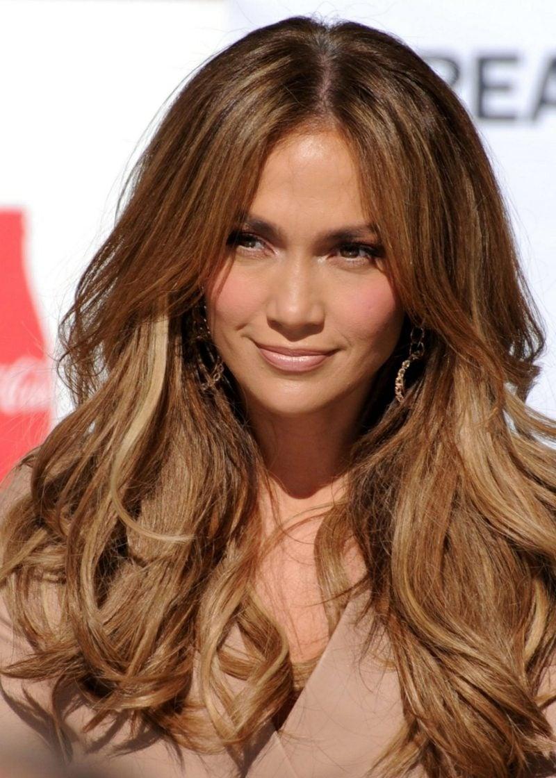 Haarfarbe Caramel Blond Jennifer Lopez