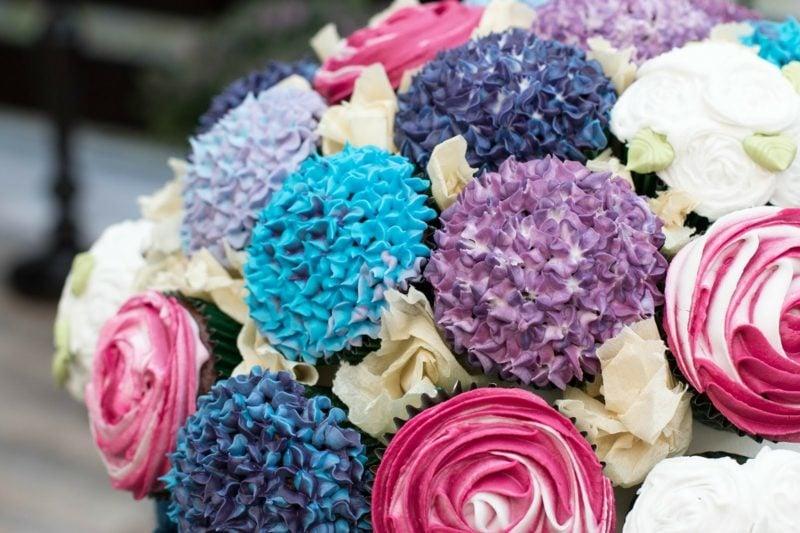 Geschenkideen beste Freundin selber machen Cupcake Blumenstrauss