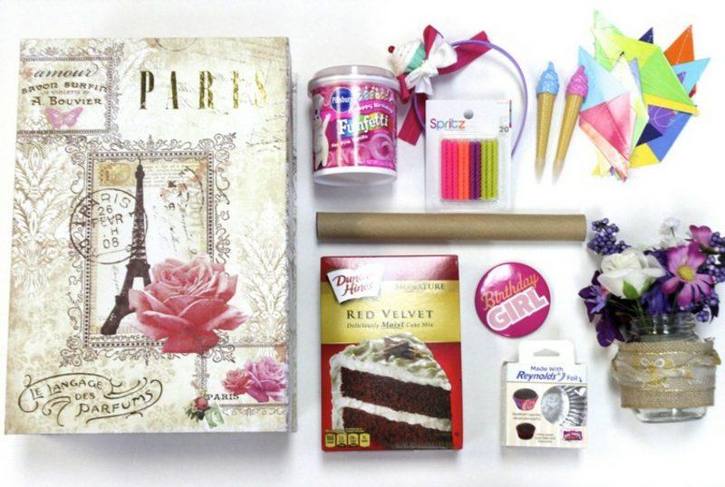 Geschenkideen beste Freundin selber machen Überraschungsbox gestalten