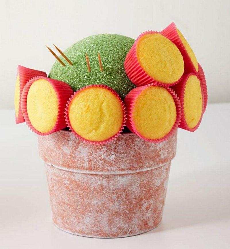 Geschenkideen beste Freundin selber machen Blumenstrauss aus Cupcakes