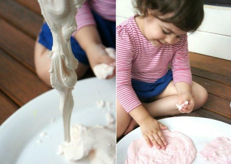 Knete selber machen lustige Kinderspiele