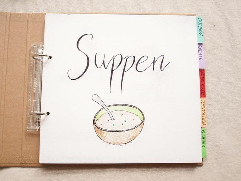 Kochbuch selbst gestalten Kategorien