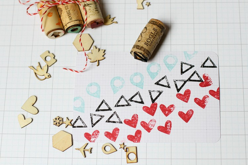 Stempeln mit Kindern kreative DIY Ideen