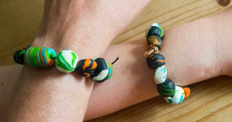 Geburtstagsgeschenk beste Freundin Fimo Armband basteln