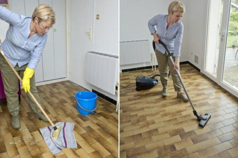 Fliesen streichen Vorbereitung Reinigung