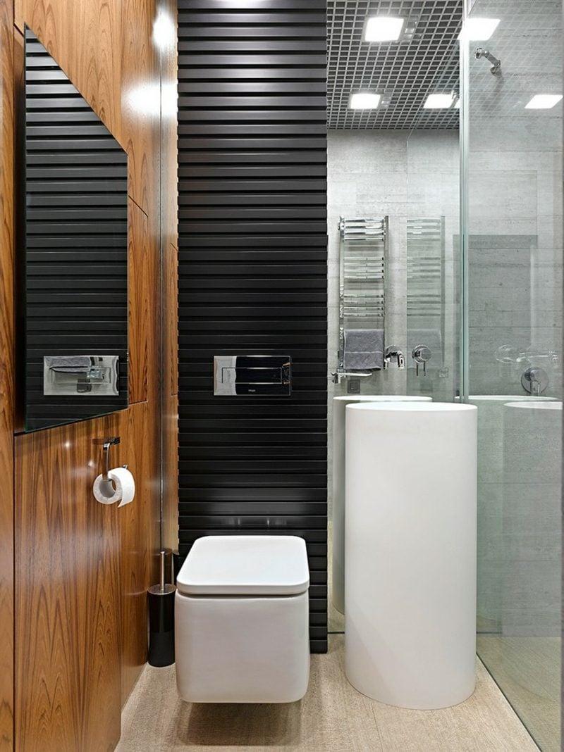 Gäste WC Gestaltung Beispiele kleiner Raum praktische Ideen