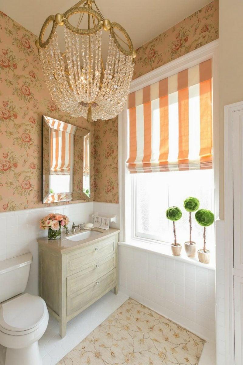Gäste WC Gestaltung Beispiele Shabby Chic Stil prachtvoll